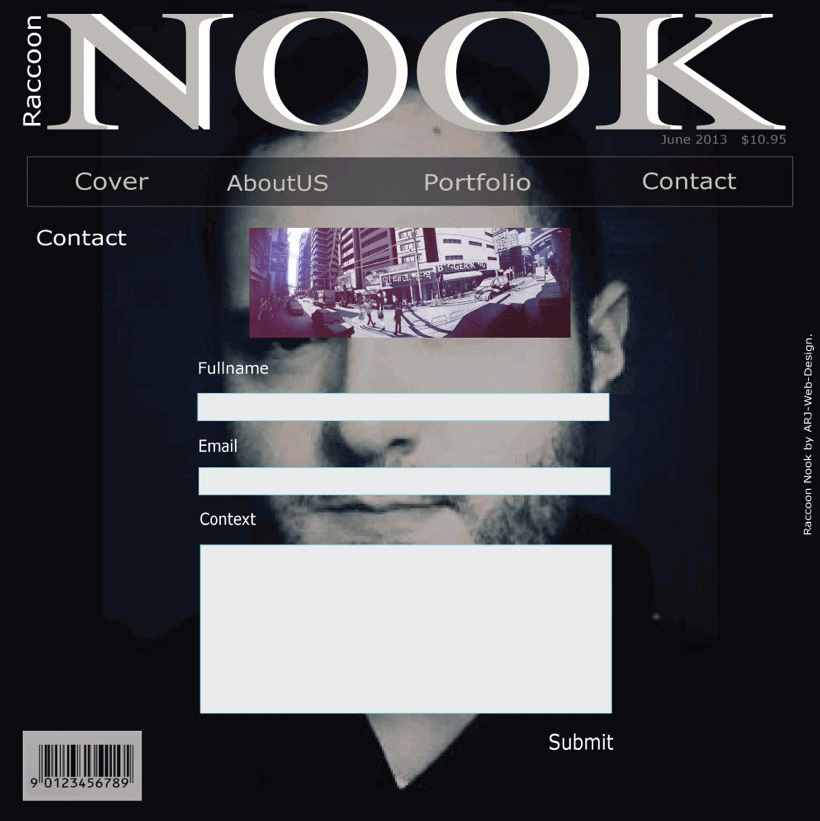 Nook's contact design page image