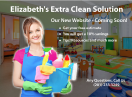 An image of Elizabeth's Extra Clean Solution Introduction new Website/Email