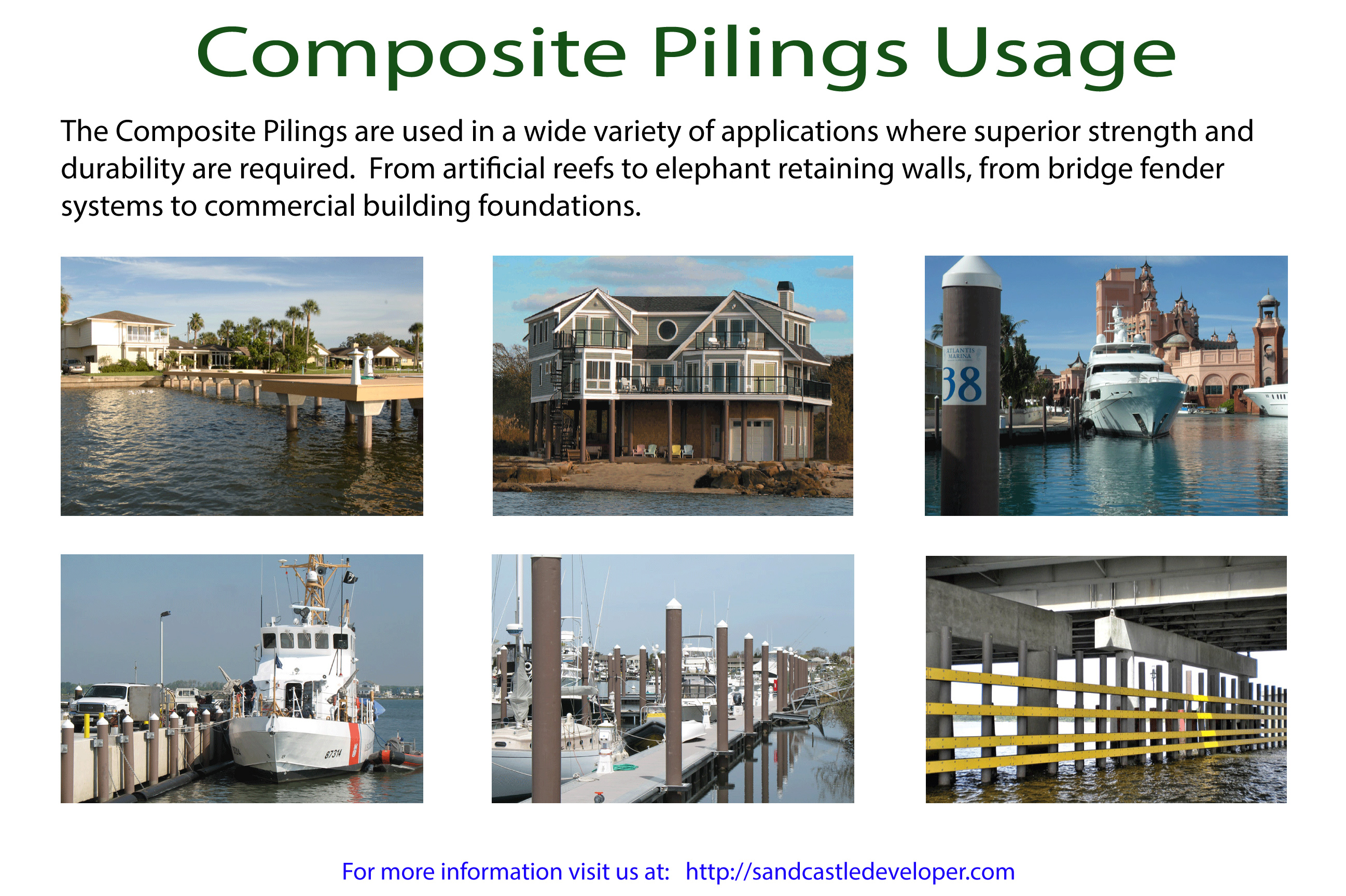 Fiberglass Composite Pilings Usage