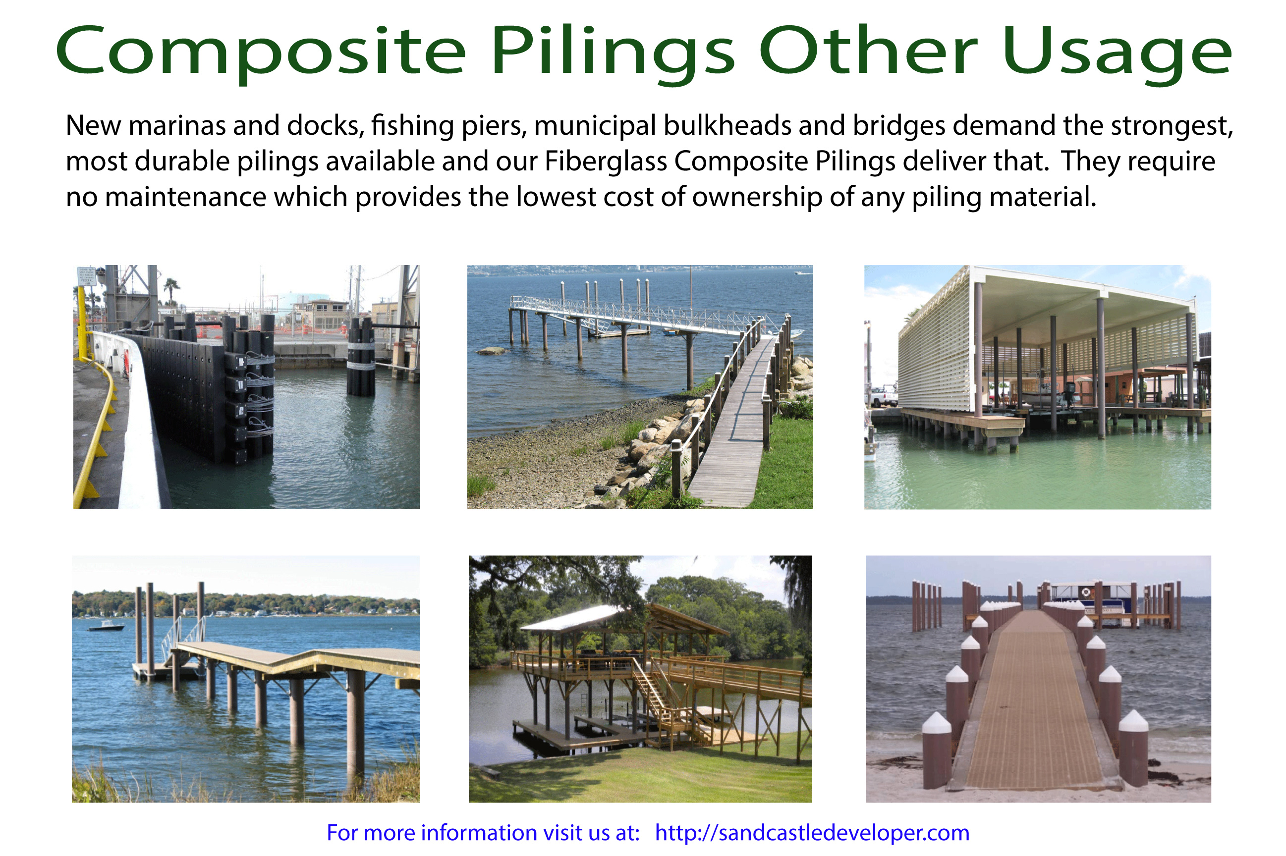 Fiberglass Composite Pilings More Usage