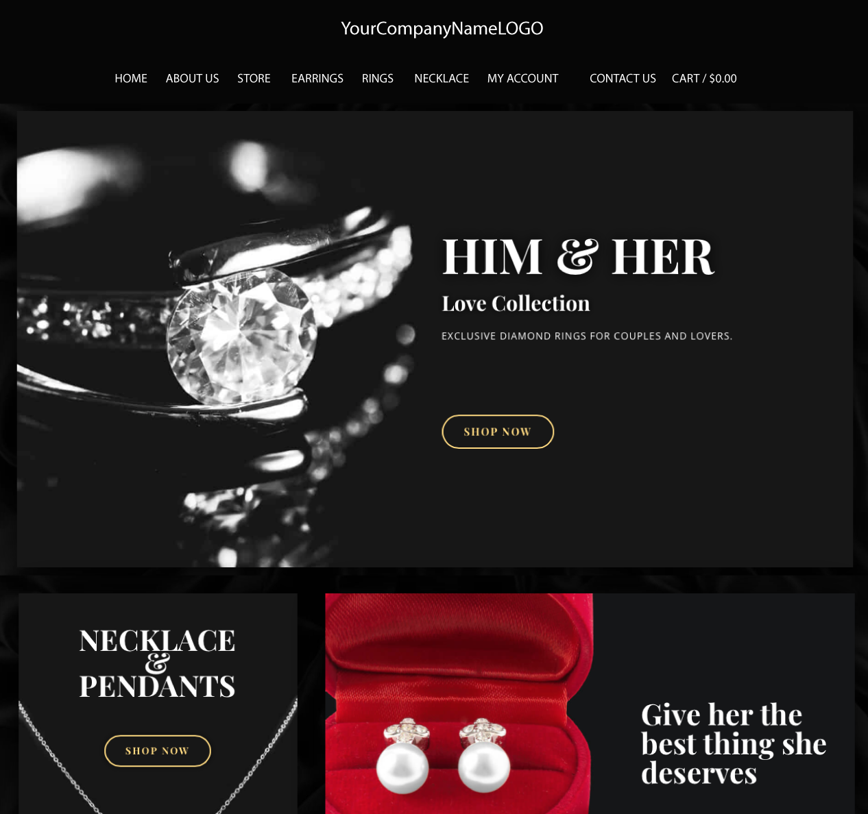 Center Image of JewelShop Website