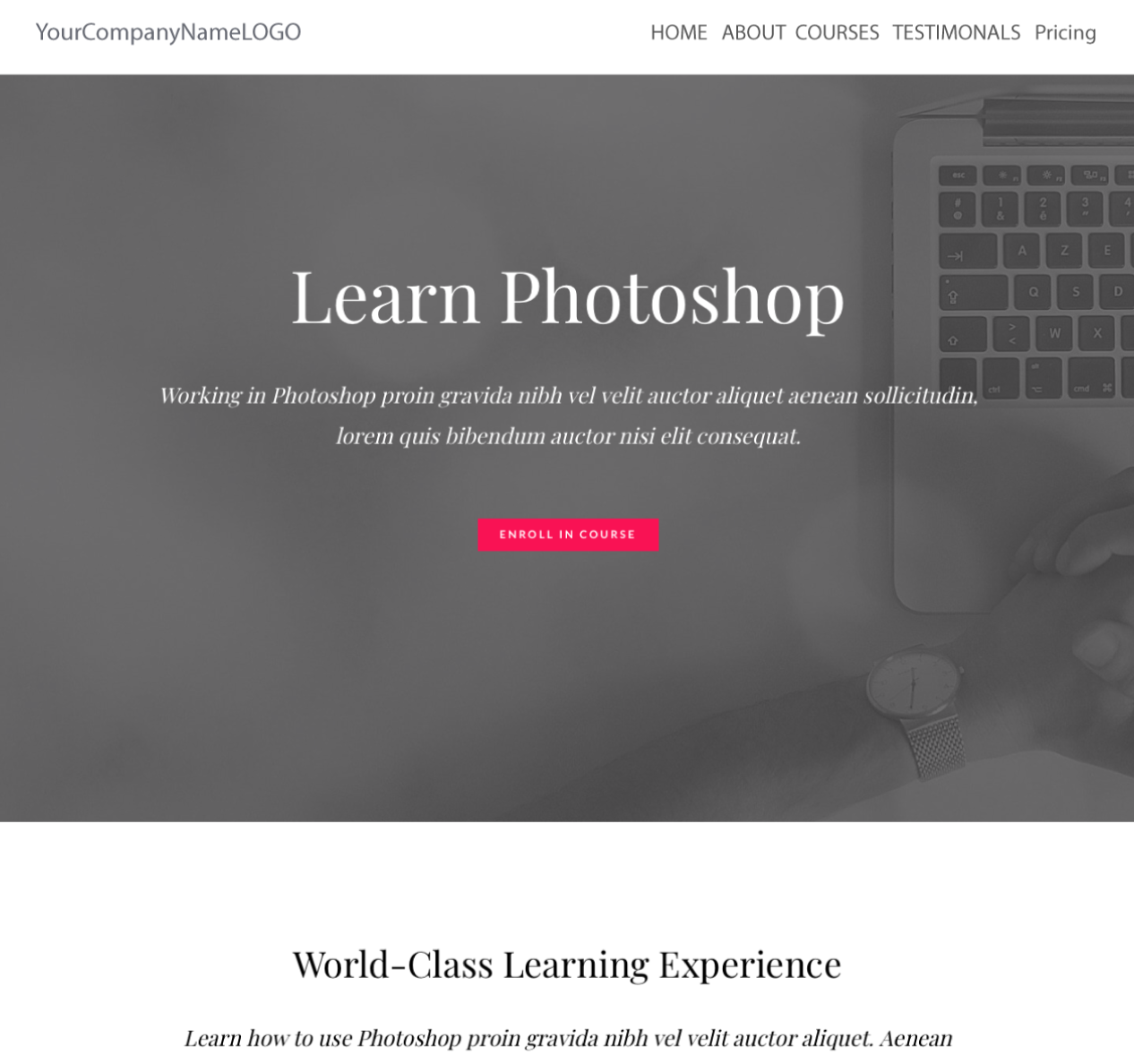 Center Image of Learning Photoshop