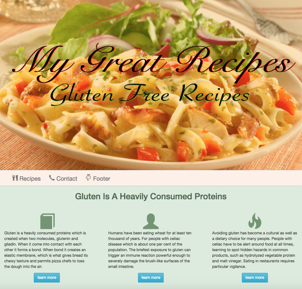Gluten Free Recipes Image 1
