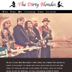 An image of The Dirty Blondes website