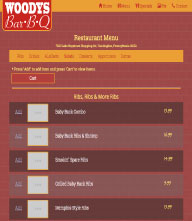 An image of a Template forWoody's Bar-B-Q website design